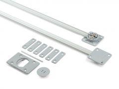 Ausrichtbeschlag 2240mm grau/silber