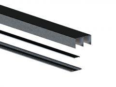 DownSliding Schienen Set 2,35m Schwarz