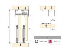 DownSliding Schienen Set 3,5m Schwarz