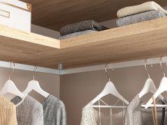 Kleiderstangenhalter Eckverbinder silber