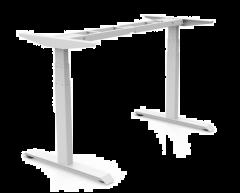 Elektro-Höhenverstellbares Tischgestell Weiß 2-Säulig