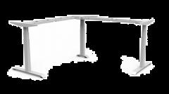 Elektro-Höhenverstellbares Tischgestell Weiß 3-Säulig